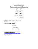 Laws of exponents with example