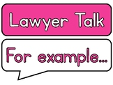 Lawyer Talk Discussion Posters for Guided Reading/Reading
