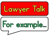 Lawyer Talk Posters for Guided Reading/Reading Workshop Re