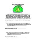 Layaway Math Worksheet for Consumer Math
