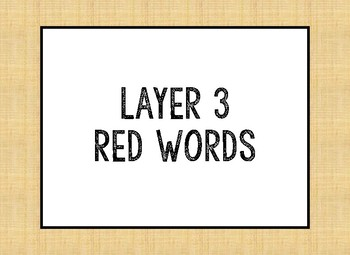 Layer 3 Red Words
