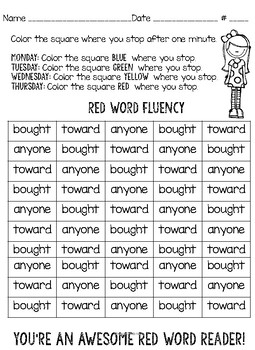 Layer 4 Red Word Fluency