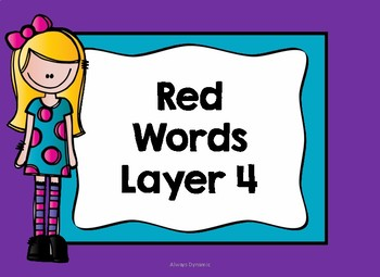 Layer 4 Red Word Hunt