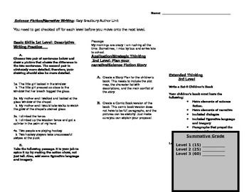 Layered Activity:Wriitng a Science Fiction Children's Book/Ray Bradbury Unit