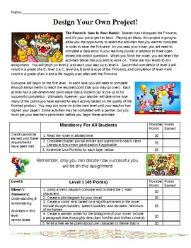 Layered Curriculum Novel Unit For ANY Book! (Super Mario Themed)