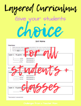 layered curriculum template instructions by challenges from a