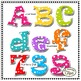 Layered Letters and Numbers Clip Art