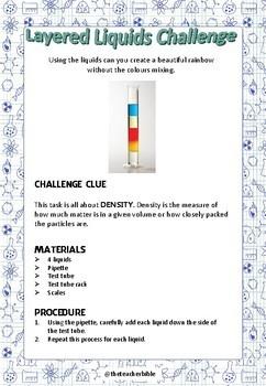 Science Experiment - 'Layered Liquids Challenge'