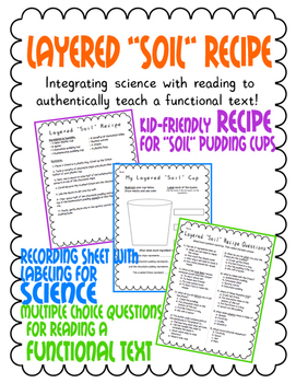 "Layered ""Soil"" Recipe with Reading Questions"