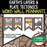 Layers and Plate Tectonics Word Wall Pennants (Earth Scien