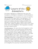 Layers of Atmosphere Activity