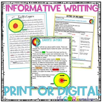 Inside Earth's Layers Paired Texts: Writing Informational Explanatory Essays