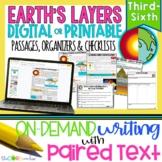 Inside Earth's Layers Paired Texts: Writing Informational