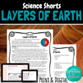 Layers of Earth Reading Comprehension Passage
