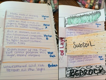 Soil Layers Foldable By Smith Science And Lit Teachers
