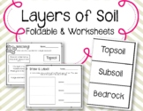 Layers of Soil. Science Interactive Notebook. Foldable. Worksheets.