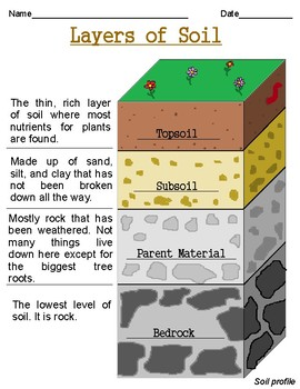 Layers of soil worksheets by mac n cheese coffee and grace for What are the different layers of soil