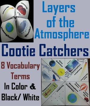 Layers of the Atmosphere Activity (No Prep SCOOT Unit Review Game)
