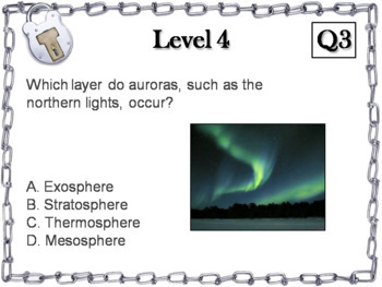 Layers of the Atmosphere Activity: Escape Room - Science