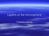 Layers of the Atmosphere Foldable Activity