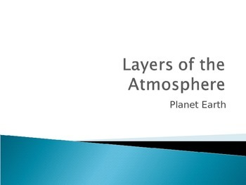 Layers of the Atmosphere: Planet Earth
