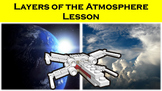 Layers of the Atmosphere Lesson with Power Point, Workshee