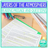 Reading Comprehension Passage: Layers of the Atmosphere