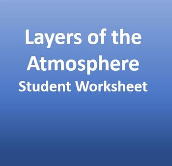 Layers of the Atmosphere - Student Worksheet