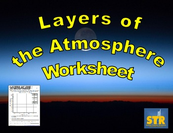 Worksheets Layers Of The Atmosphere Worksheet layers of the atmosphere wo by science teacher resources worksheet