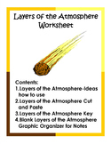 Layers of the Atmosphere Worksheet