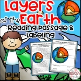Layers of the Earth Worksheet and Reading Passage