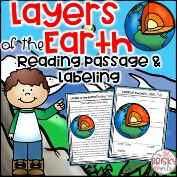 Layers Of The Earth Worksheet And Reading Passage By The Brisky Girls