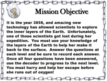 Layers of the Earth Activity: Escape Room - Science