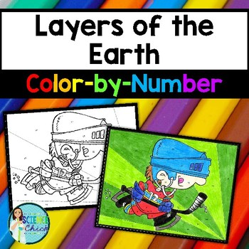 Layers of the Earth Color-by-Number