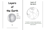 Layers of the Earth  - Foldable Booklet Activity