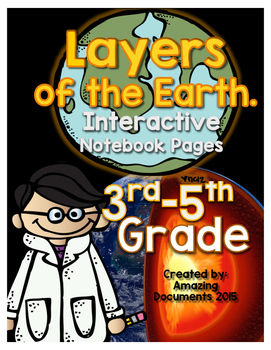 Layers of the Earth - Interactive Notebook Pages