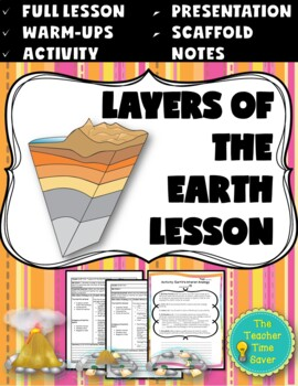 Layers of the Earth Lesson (PowerPoint, notes, and activity)