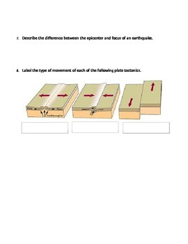 Layers of the Earth Middle School Science Worksheet