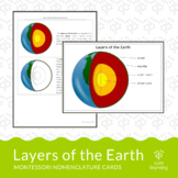 Layers of the Earth - Montessori Nomenclature Cards
