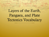 Layers of the Earth, Pangaea, and Plate Tectonics Vocabulary