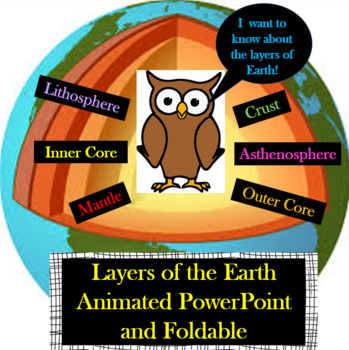 Layers Of The Earth PowerPoint And Foldable