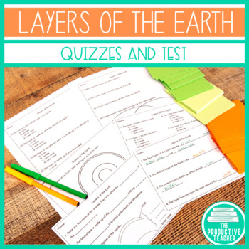 Layers of the Earth Quizzes and Test
