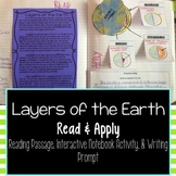 Layers of the Earth Reading Comprehension Interactive Notebook