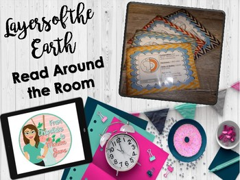 Layers of the Earth Read Around the Room (2 Interactive Notebook Options)