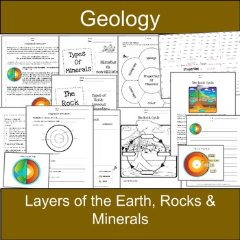Layers of the Earth, Rocks, Minerals: Earth Science-Geology