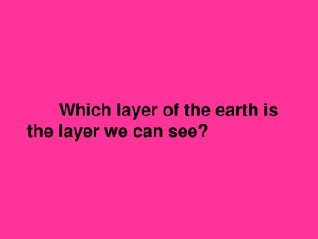 Layers of the Earth, Rocks and Minerals Jeopardy Game