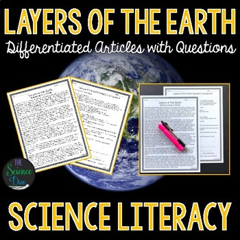 Layers of the Earth - Science Literacy Article