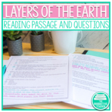 Layers of the Earth - Science Reading Passage with Notes Page and Questions