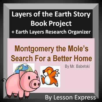 Layers of the Earth Storybook Project -- Rubric, Research Sheet, Sample