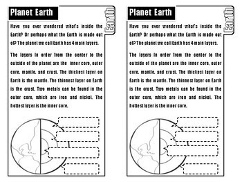 Layers of the Earth (Tab Book) Graphic Organizer